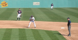 lead off second base